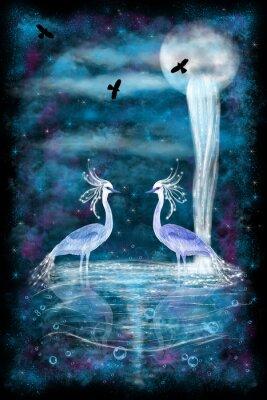 Плакат Фэнтези Два Цапли