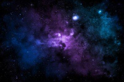 Плакат Цветные туман звездного неба
