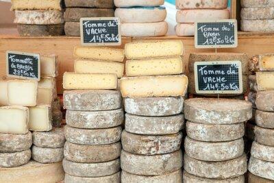 Плакат Farmer cheese on market counter