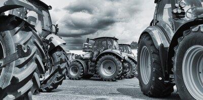 Плакат сельское хозяйство трактор линейки, плуги оборудование