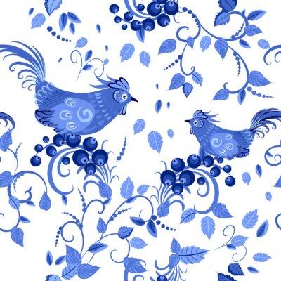 Плакат мода бесшовных текстур с стилизованные цветы