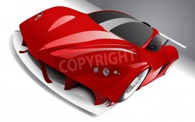 Плакат быстро гонки красный автомобиль, слоистые, полностью редактируемые