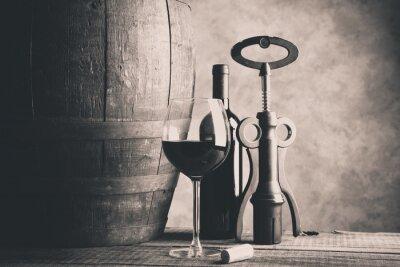 Плакат прекрасное вино