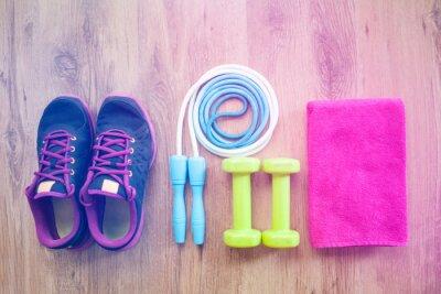 Плакат фитнес-оборудование