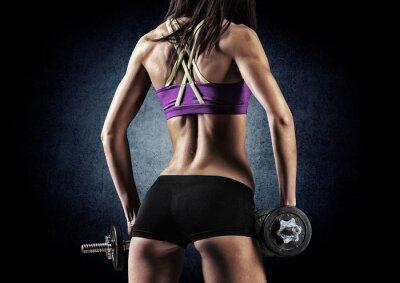 Плакат Фитнес спортивный женщина в обучении