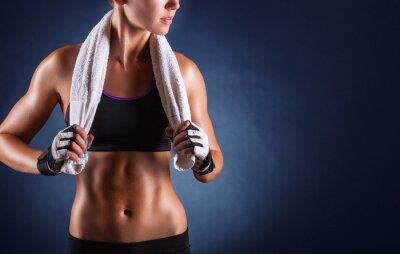 Плакат Фитнес женщина