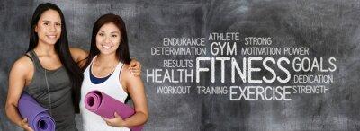 Плакат Фитнес тренировки