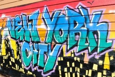 Плакат Пять Pointz, считается Меккой граффити в Квинс Нью-Йорке, является открытая площадь выставки с многочисленными граффити artists.October 7, 2010.