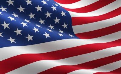 Плакат Флаг Соединенных Штатов Америки