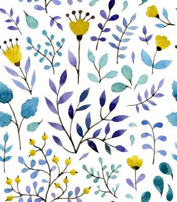 Плакат цветочный узор