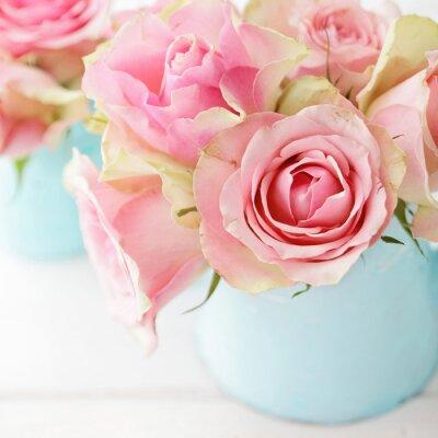 Плакат цветы в вазе
