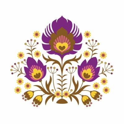 Плакат Народные Papercuts - Цветы