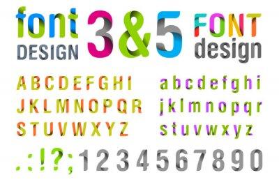 Плакат Дизайн шрифта. Лента алфавит. вектор.