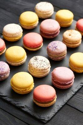 Плакат Французские вкусные миндальное десерт