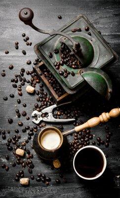 Плакат Свежий сваренный кофе горшок
