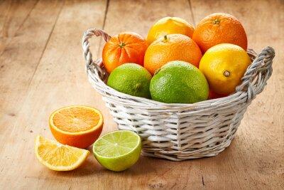 Плакат Свежие фрукты цитрусовые