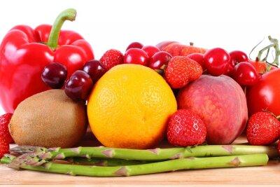 Плакат Свежие фрукты и овощи, здоровое питание
