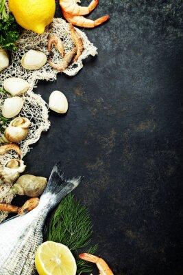 Плакат Свежие морепродукты