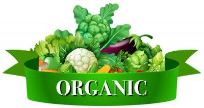 Плакат Свежие овощи с баннера