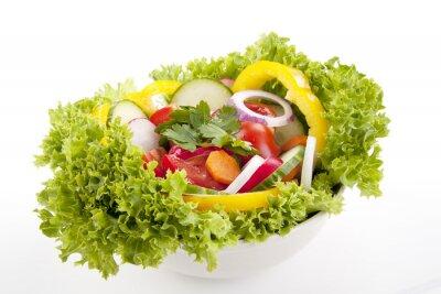 Плакат Frischer Gesunder Салат мит gemischtem Gemüse