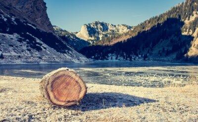 Плакат Замороженные горное озеро.
