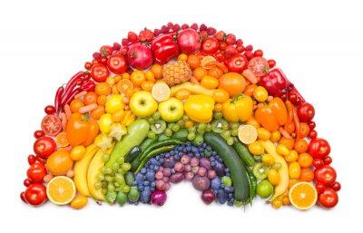 Плакат фруктов и овощей радуга