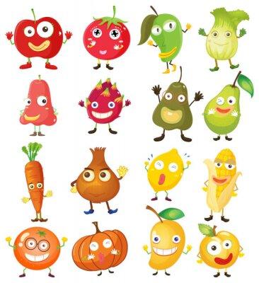 Плакат Фрукты и овощи с лица
