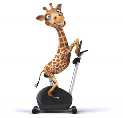 Плакат Развлечения жираф