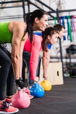 Плакат Функциональная Фитнес Тренировка им Fitnessstudio мит Гиря