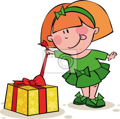 Нарисовать подарок девочке 87