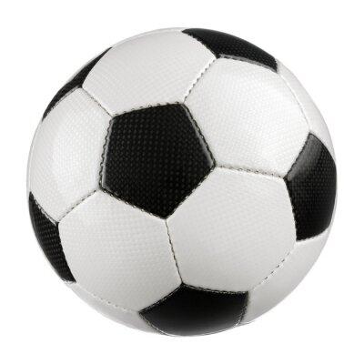 Плакат Fußball auf reinem Weiß