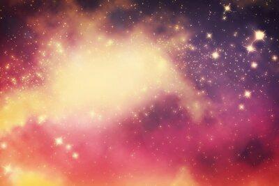 Плакат Galaxy со звездами и фэнтезийной вселенной пространства.
