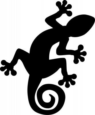 Плакат Gecko lizard silhouette