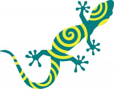 Плакат Gecko с кругами