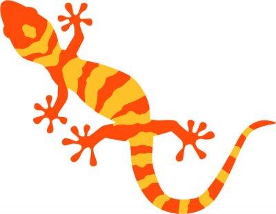 Плакат Gecko with orange and yellow pattern