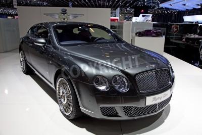 Плакат ЖЕНЕВА - МАРТ 8: новый Bentley Continental