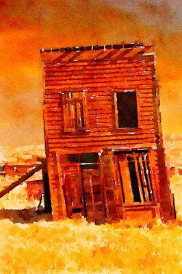Плакат Ghost Town Building