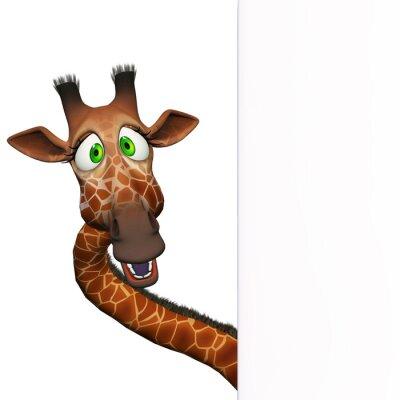 Плакат Жираф с пустой доски