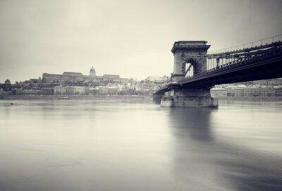 Плакат Мрачный зима образ венгерских памятников,