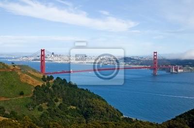 Плакат Golden Gate Bridge и Сан-Франциско