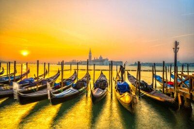 Плакат Гондолы в Венеции, Италия