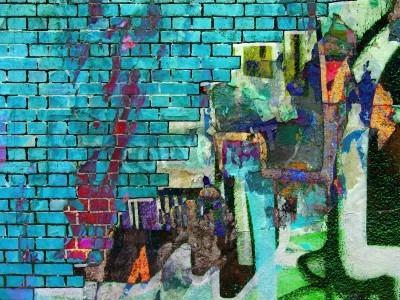 Плакат Graffiti collage. Abstract texture