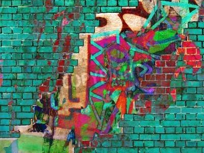 Плакат Граффити текстуры. Аннотация коллаж.