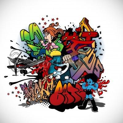 Плакат Граффити, городского искусства