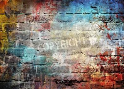 Плакат Граффити стена фон
