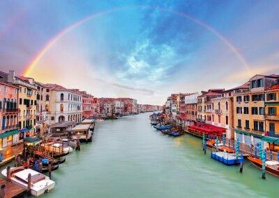 Плакат Гранд-канал - Венеция от моста Риальто