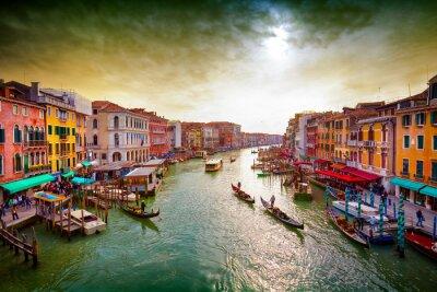 Плакат Большой канал, Венеция, Италия.