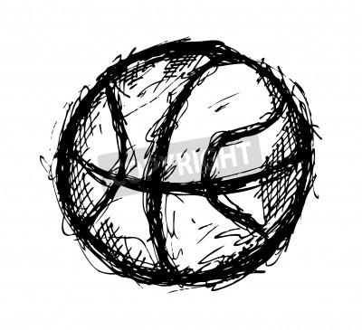 Плакат Гранж баскетбольная каракули