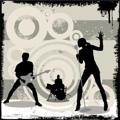 Плакат гранж концерт вектор