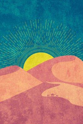 Плакат Grunge desert dunes
